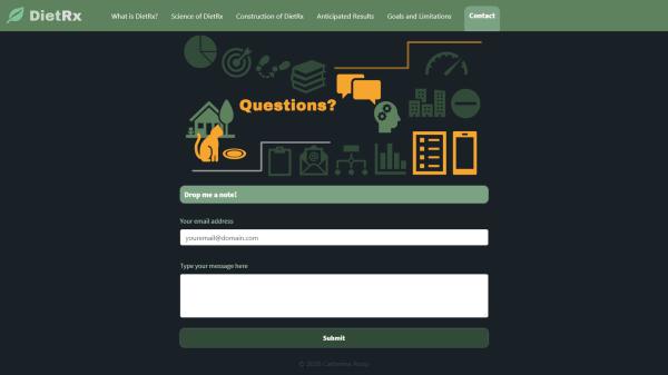 Screenshot of a live website I coded.