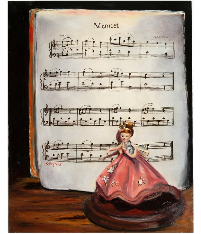 """Menuet,"" Oil on Panel, 14 x 11"" Framed, $230Original Oil Painting by Catherine Stephens"