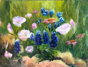 """Spring Mix"" Original Oil Painting by Catherine Stephens, Oil on Canvas, 9"" x 12"", Framed. $160"