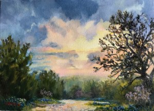 """Evening Light,"" Oil on Canvas, 9"" x 12"" $160Original Oil Painting by Catherine Stephens"