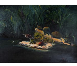 """Turtle Pond,"" Oil on Linen, 18"" x 24"", $650Original Oil Painting by Catherine Stephens"