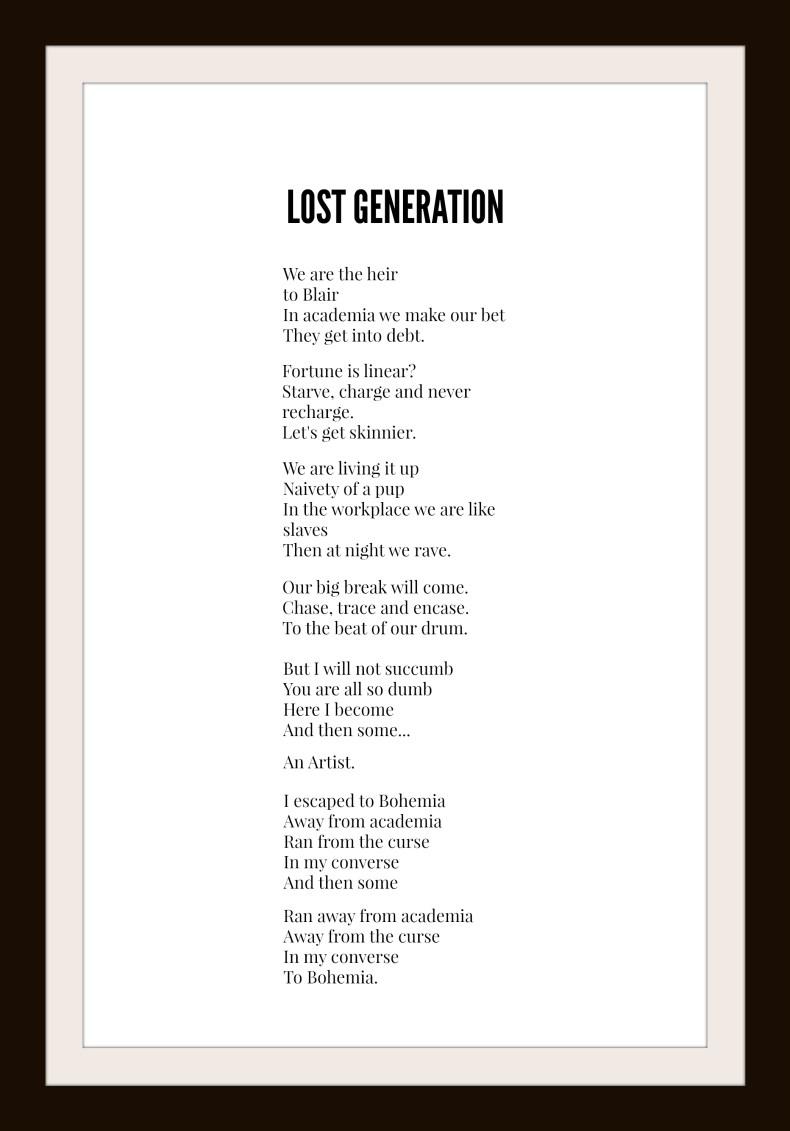 Lost generation framed
