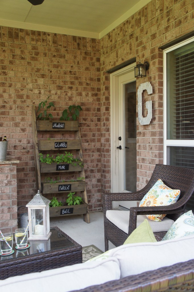 Texas Outdoor Living Area and Small Outdoor Patio