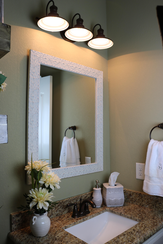 Powder Room Redo - Before and After #BeforeAndAfter #PowderRoom #Bathroom