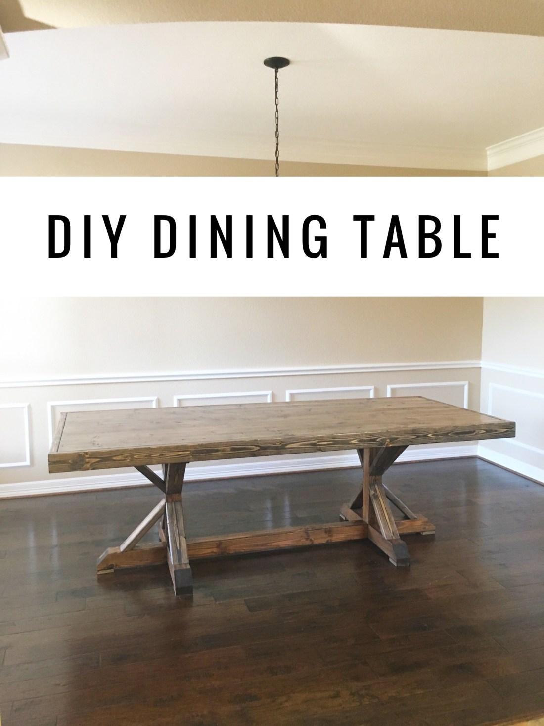 DIY Restoration Hardware Dining Table