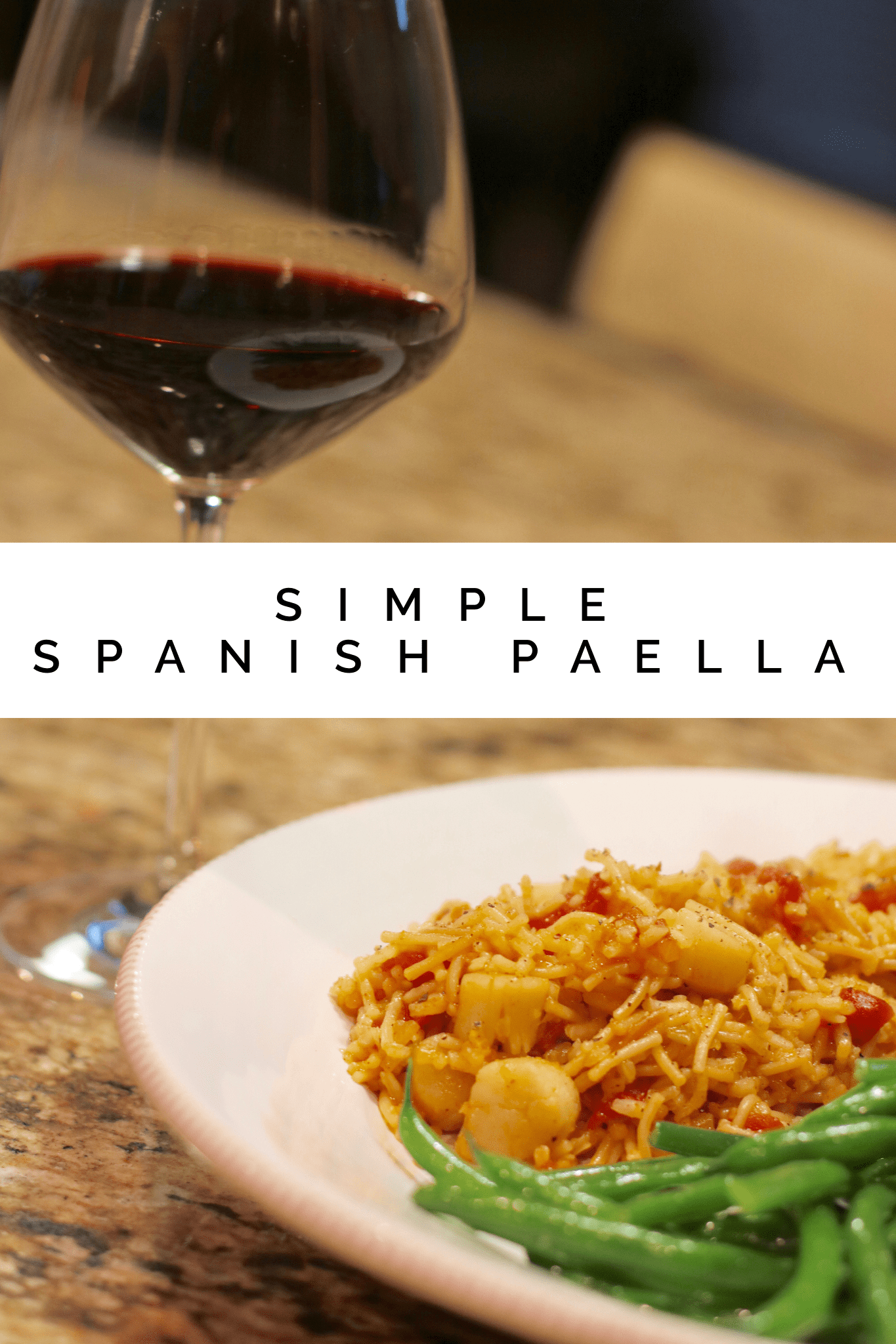Simple Spanish Paella #Scallops #Fish #QuickDinner #CheapDinner
