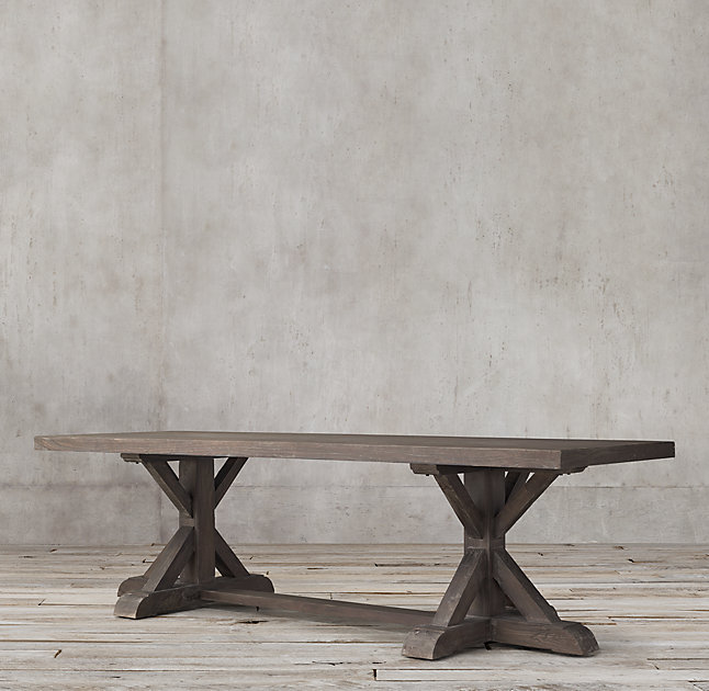 DIY Restoration Hardware Dining Table #DIY #DiningTable #DIYTable