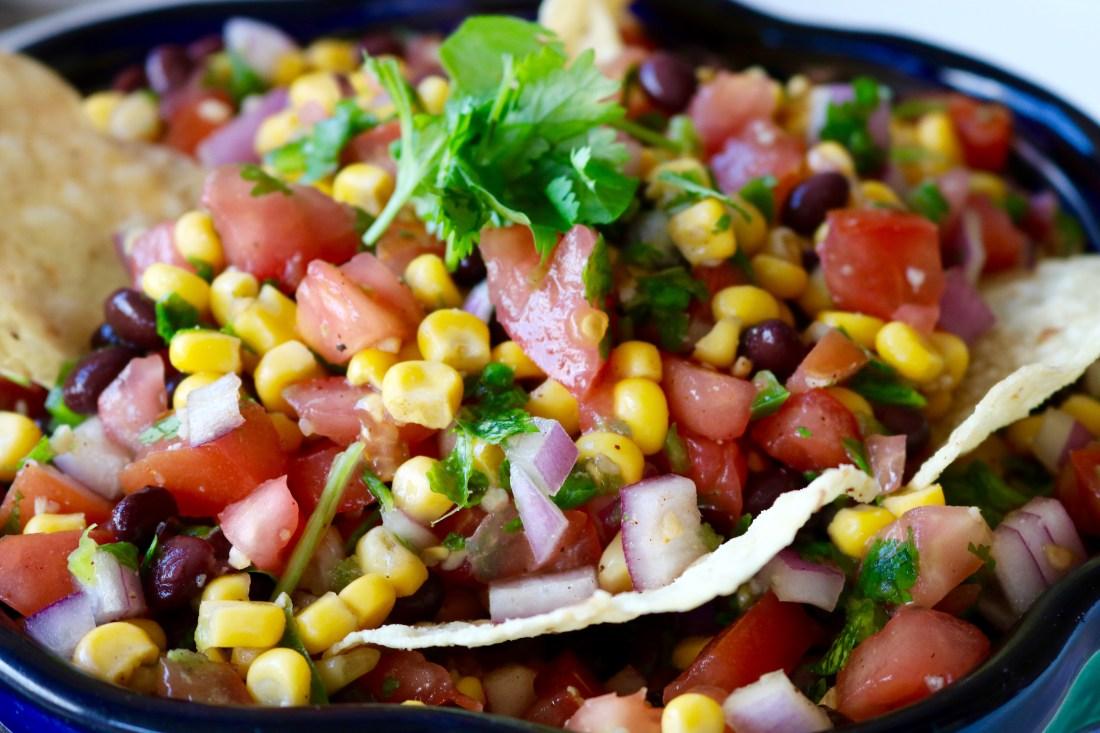 Fresh and Easy Corn Salsa Recipe #Salsa #EasySalsa #FreshSalsa