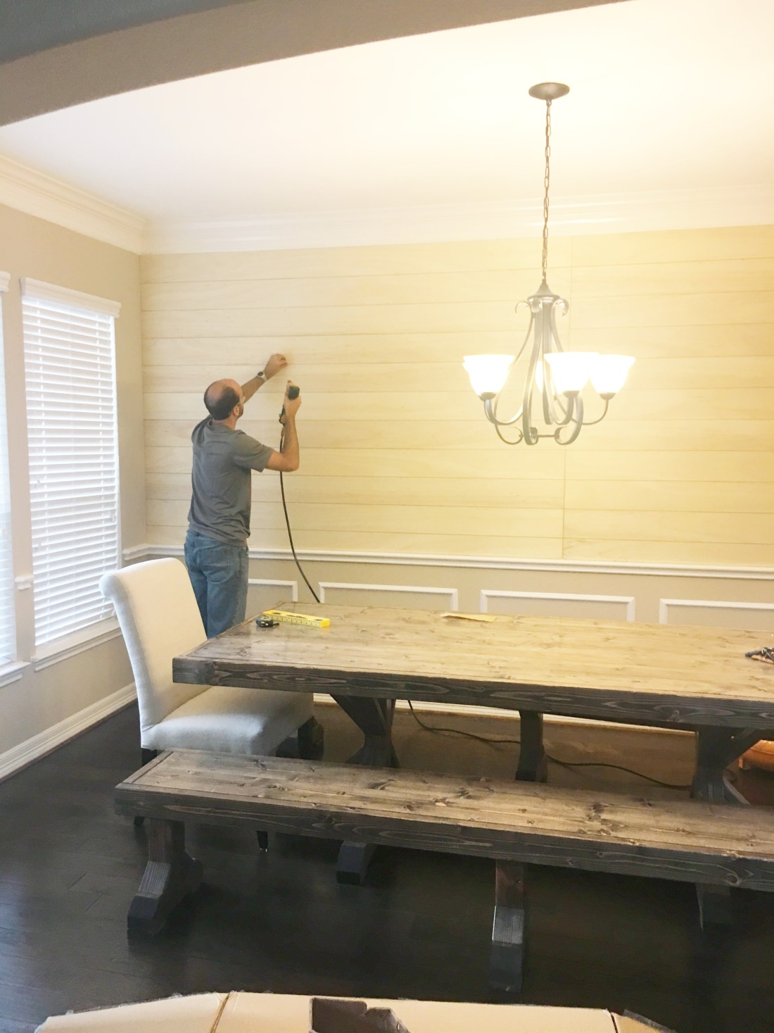 How to Shiplap a Wall without Shiplap