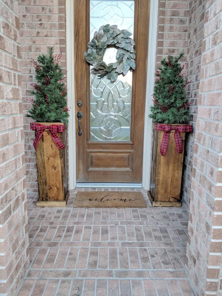 DIY Christmas Planters