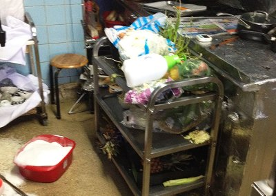 Kitchen clearing and clean up at 82 St Aldates