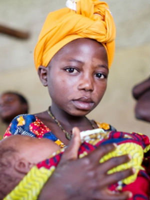 Across sub-Saharan Africa, 40 percent of women are married as children.