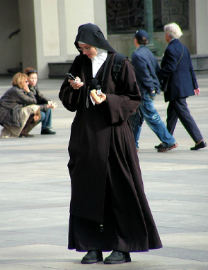 Texting, tweeting or Pokemon? Moderation is key, and that goes for absolutely everybody, not just nuns.