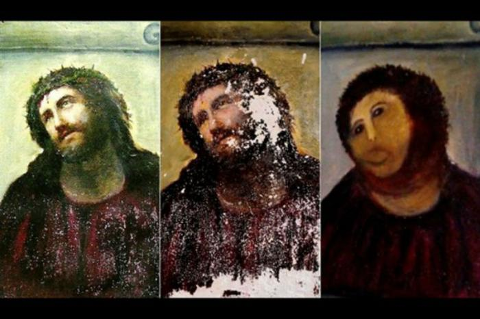 Ecce Homo botched restoration.