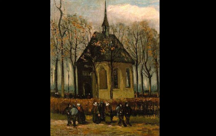 """""""Congregation Leaving the Reformed Church in Nuenen"""" was the second recovered painting."""
