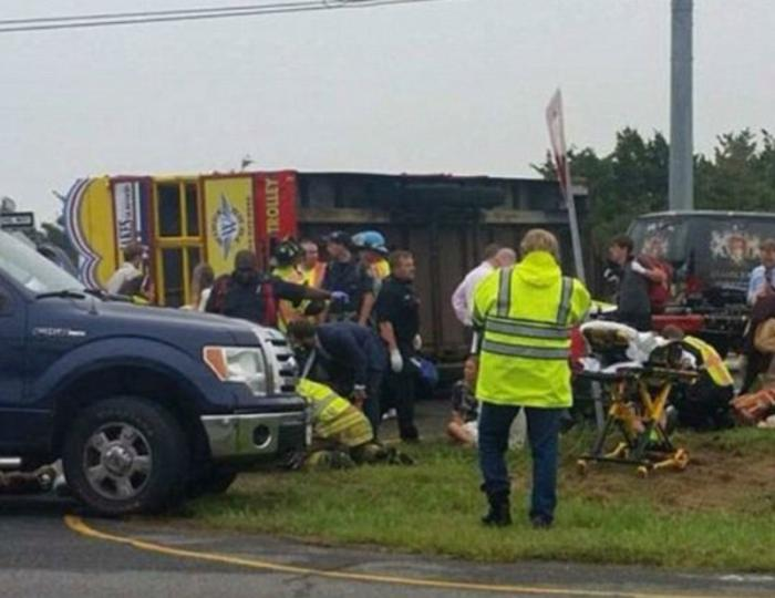 Twenty-two people were injured in the accident.