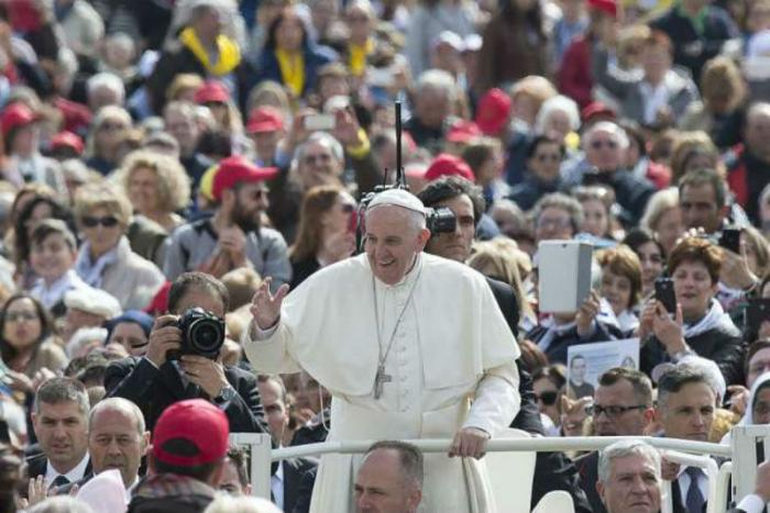 Pope Francis at the Jubilee Audience in St. Peter