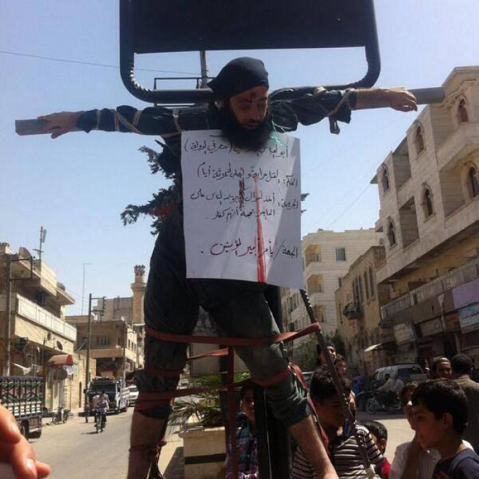 Image result for isis crucifies