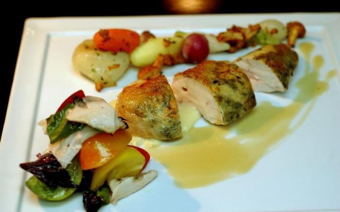 Herb- and Lemon-stuffed Rotisserie Chicken
