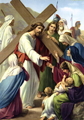 Image of Eighth Station: Jesus meets the women of Jerusalem