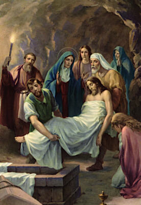 Image of Fourteenth Station: Jesus is laid in the tomb