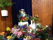 Our Lady 'crowned' by pupils from All Saints School