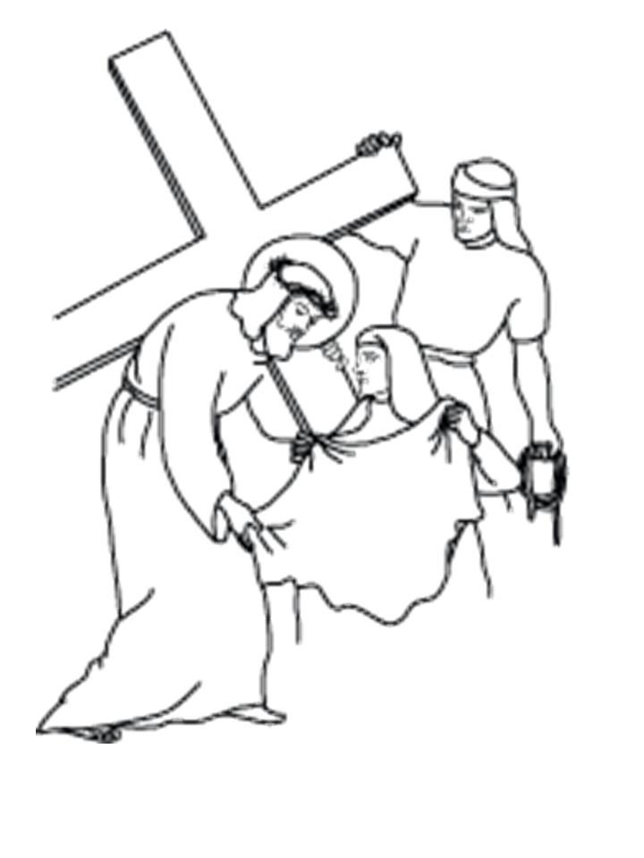 Jesus Face Outline Coloring Pages