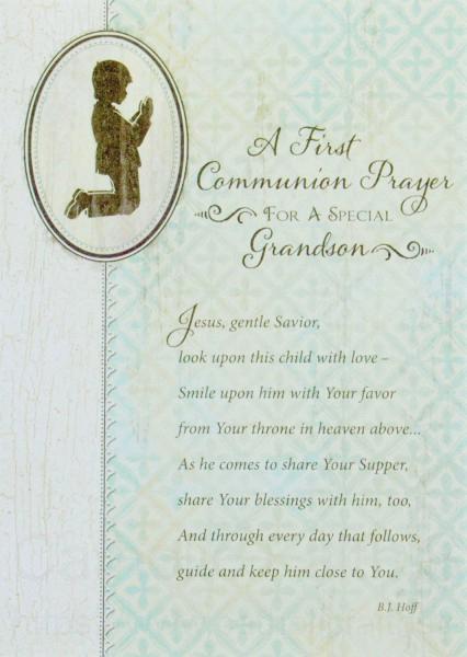 A First Communion Prayer Grandson