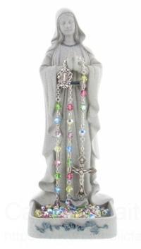 """Madonna Rosary Holder from Catholic Faith Store (8"""", Gray)"""
