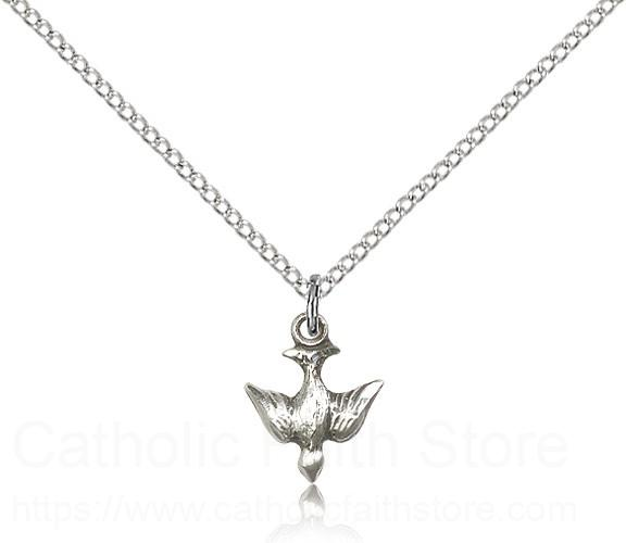 Small Descending Dove Holy Spirit Medal