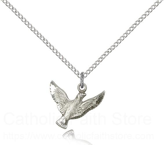 Sterling Silver Holy Spirit Necklace