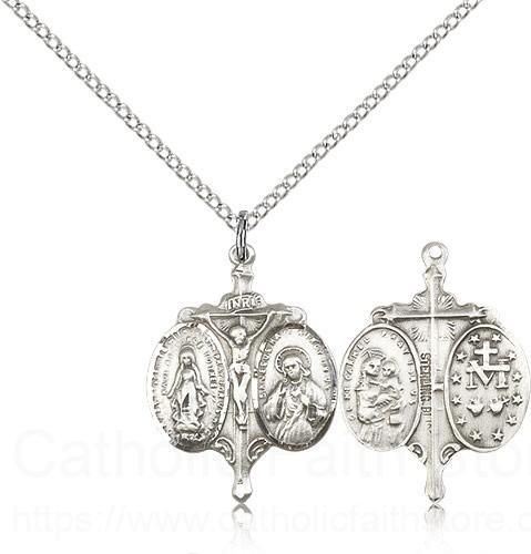 Sterling Silver Novena Pendant Necklace