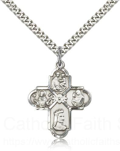 Sterling Silver Franciscan 4-Way Necklace