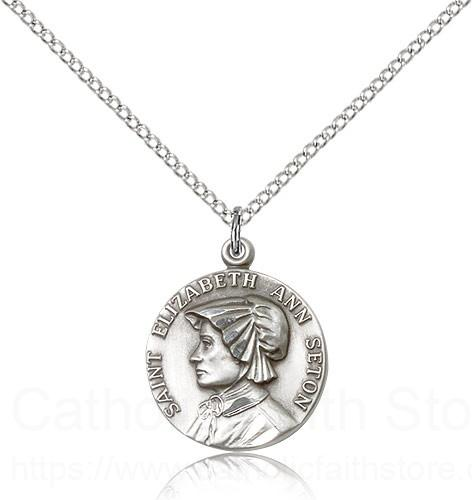 Sterling Silver St. Elizabeth Ann Seton Necklace