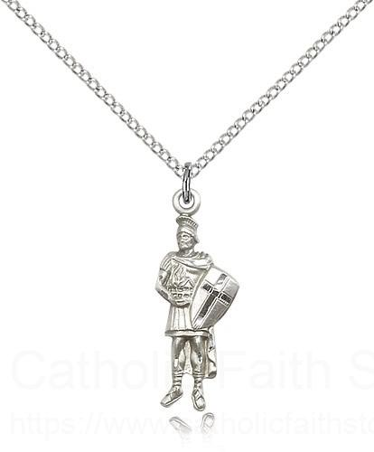 Sterling Silver St. Florian Necklace