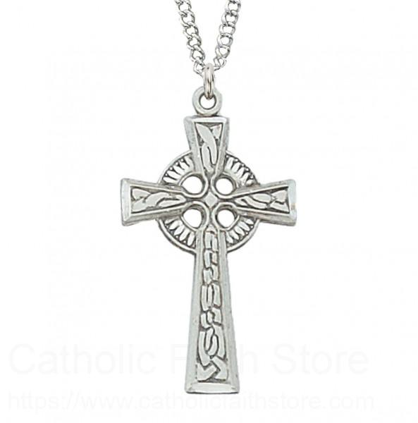 Women's Narrow Celtic Cross Sterling Silver