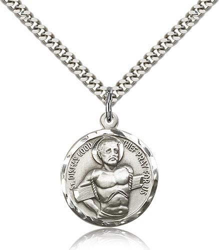 Sterling Silver Saint Dismas Necklace