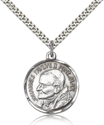 Sterling Silver St. Pope John Paul II Necklace