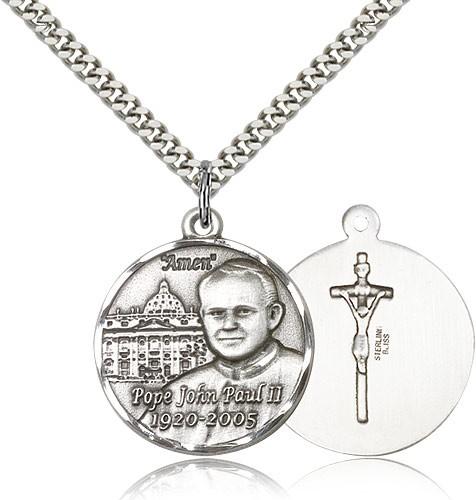 Men's Pope John Paul II with Vatican Medal