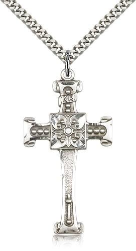 Sterling Silver Scrolled Cross Pendant