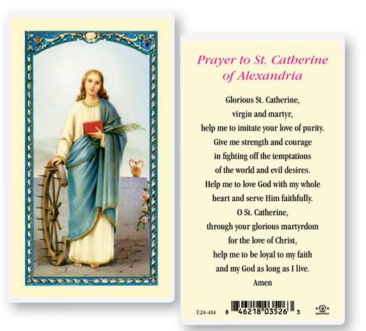 St Catherine Of Alexandria Laminated Prayer Cards 25 Pack