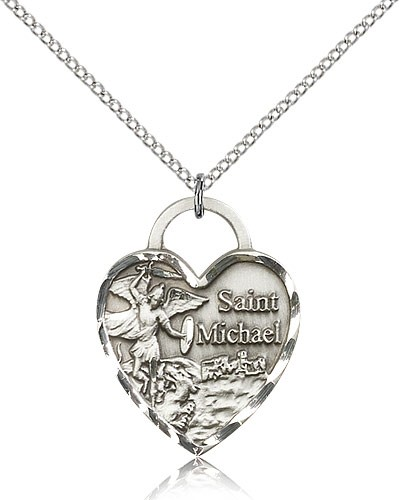 Sterling Silver St. Michael The Archangel Necklace