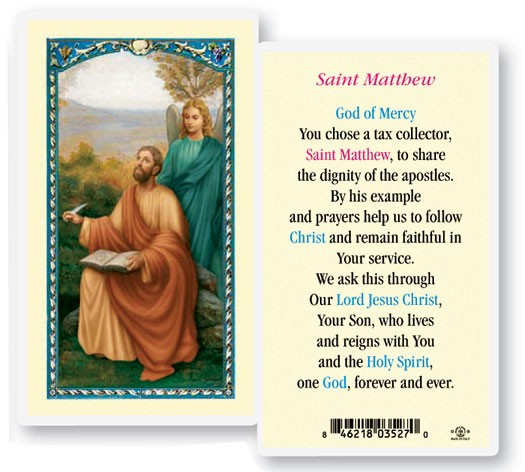 Saint Matthew Laminated Prayer Cards 25 Pack