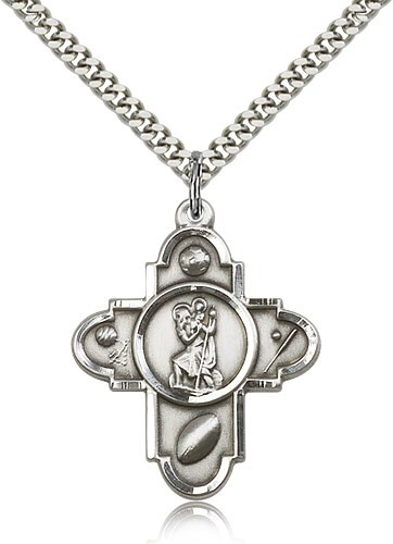 St. Christopher Sports 5-Way Medal