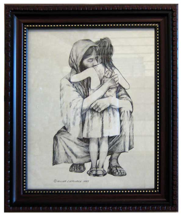 Jesus Hugging Girl 33002