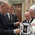 Italian soccer officials meet with Pope Francis