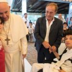 Pope Francis makes surprise visit to centre for disabled people
