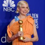 Golden Globes attendees cheer as Michelle Williams hints she killed her baby