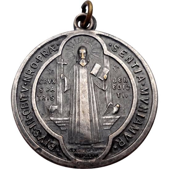 Benedict Catholic Holy Medal Protection Cross Healing Courage Saint Necklace St