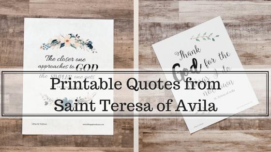 quotes from saint teresa of avila